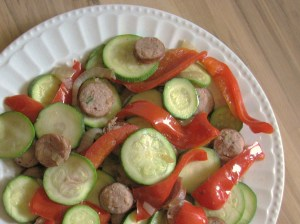 chicken sausage veggies