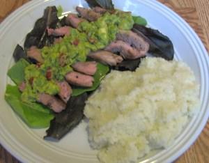 lamb basil guacamole