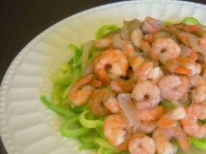 shrimp and sweet  onion